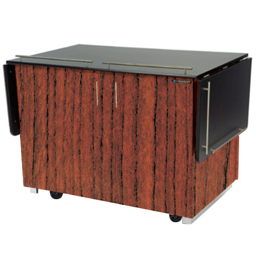 """Lakeside 6850 Mobile Breakout Dining Station with Victorian Cherry Laminate Finish - 83 1/2"""" x 30 1/2"""""""