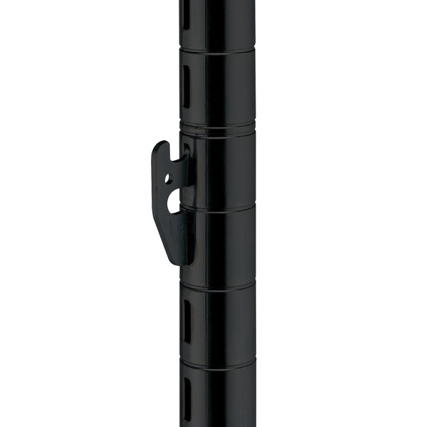 Metro 74UPQBL qwikSLOT Black Mobile Post - 74""