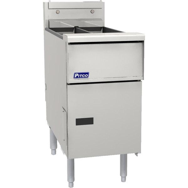 Pitco SG14TSSTC Liquid Propane 20-25 lb. Split PotFloor Fryer with Solid State Thermostatic Controls - 100,000 BTU Main Image 1