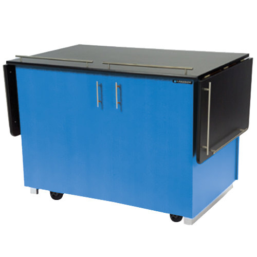 """Lakeside 6850 Mobile Breakout Dining Station with Royal Blue Laminate Finish - 83 1/2"""" x 30 1/2"""""""