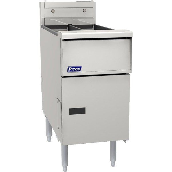"""Pitco® SG14RSVS7 Natural Gas 40-50 lb.Floor Fryer with 7"""" Touch Screen Controls - 122,000 BTU"""