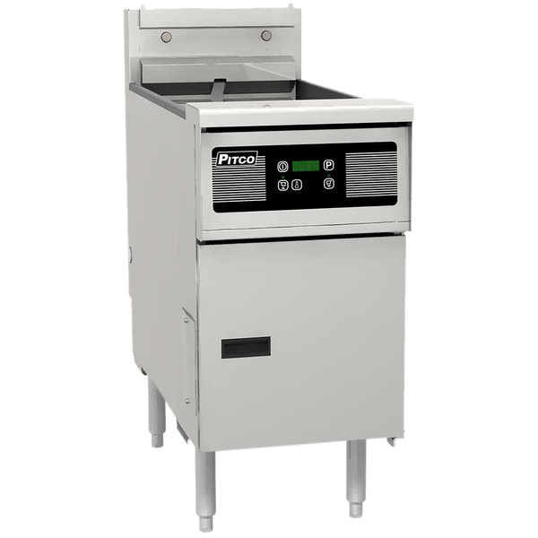 Pitco® SG14SD Natural Gas 40-50 lb. Floor Fryer with Digital Controls - 110,000 BTU Main Image 1