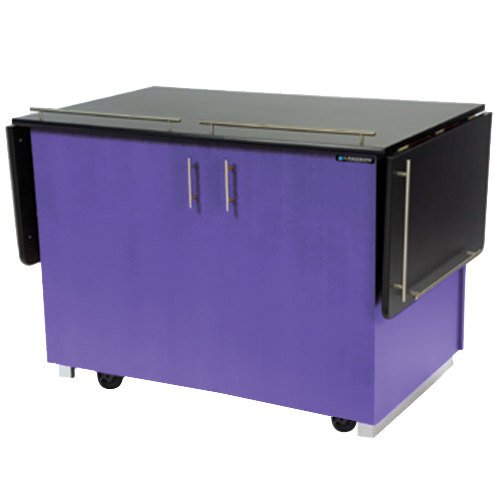 """Lakeside 6850 Mobile Breakout Dining Station with Purple Laminate Finish - 83 1/2"""" x 30 1/2"""""""