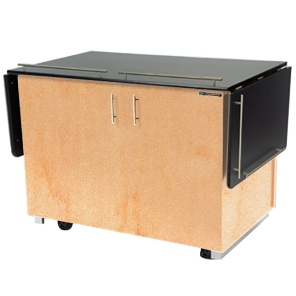 """Lakeside 6850 Mobile Breakout Dining Station with Hard Rock Maple Laminate Finish - 83 1/2"""" x 30 1/2"""""""