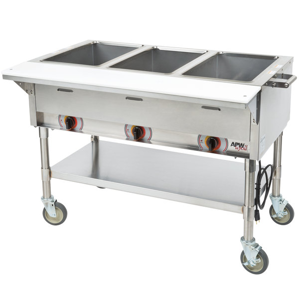 Cool Apw Wyott Psst3S Portable Steam Table Three Pan Sealed Well 240V Home Interior And Landscaping Staixmapetitesourisinfo