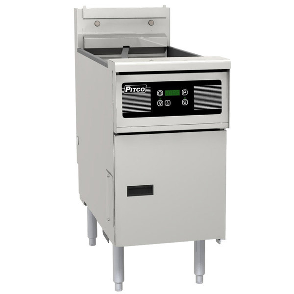 Pitco SE14R-D 40-50 lb. Solstice Electric Floor Fryer with Digital Controls - 240V, 3 Phase, 22kW Main Image 1