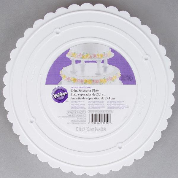 """Wilton 302-10 Decorator Preferred Round Scalloped Edge Cake Separator Plate - 10"""""""