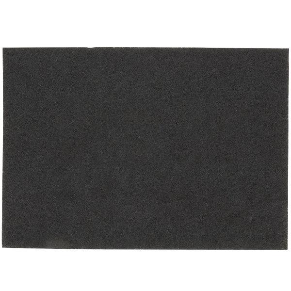 "3M 7200 14"" x 20"" Black Stripping Pad - 10/Case"
