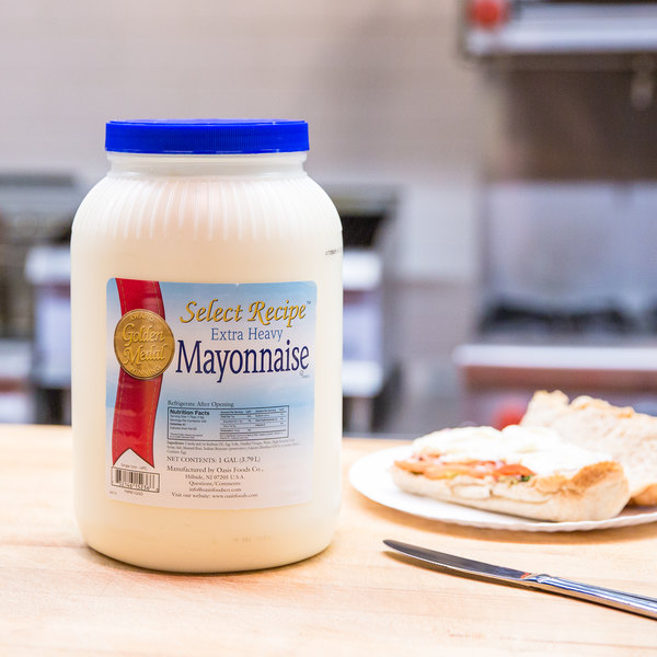 Oasis Select Recipe Extra Heavy Mayonnaise - 1 Gallon Container