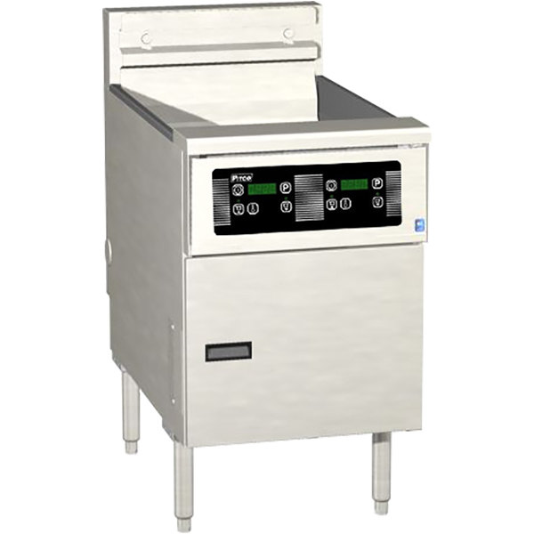 Pitco SE18-D 70-90 lb. Solstice Electric Floor Fryer with Digital Controls - 240V, 3 Phase, 17kW Main Image 1