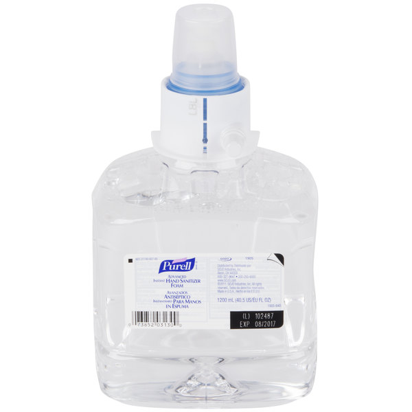 Purell® 1905-02 LTX Advanced 1200 mL Foaming Instant Hand Sanitizer - 2/Case