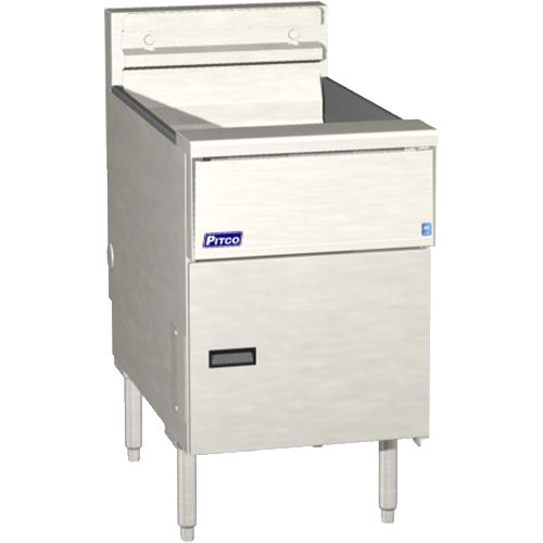 """Pitco SE184-VS7 60 lb. Solstice Electric Floor Fryer with 7"""" Touchscreen Controls - 208V, 3 Phase, 17kW Main Image 1"""