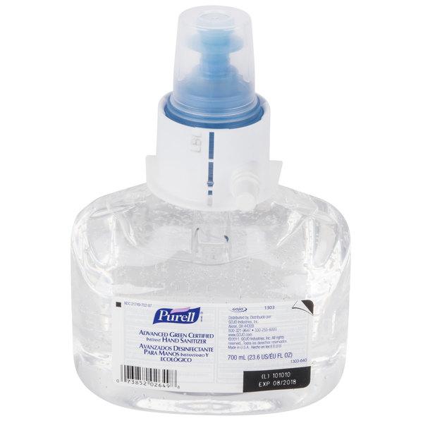 Purell® 1303-03 LTX Advanced Green Certified 700 mL Gel Instant Hand Sanitizer - 3/Case