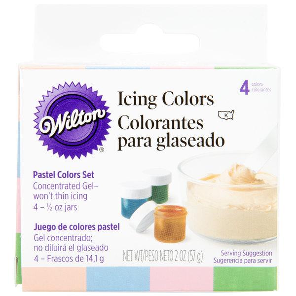 Wilton 601-25588 Pastel Gel Food Coloring .5oz bottles - 4/Pack