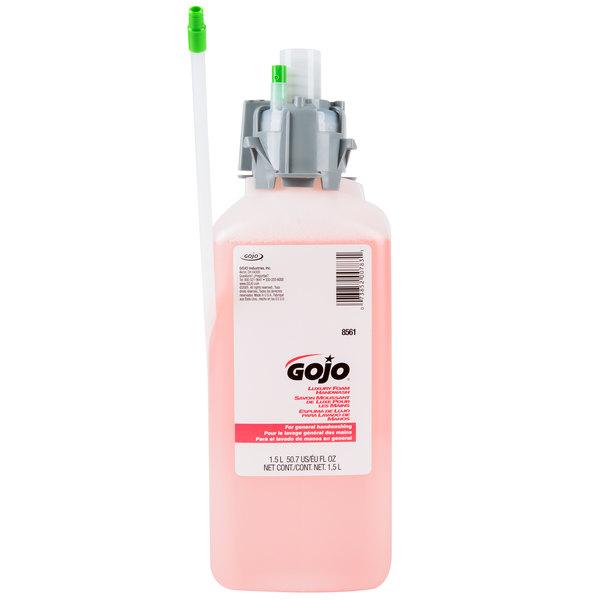 GOJO® 8561-02 CX Series Luxury 1500 mL Cranberry Foaming Hand Soap - 2/Case