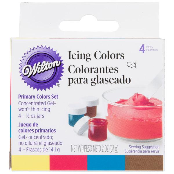 Wilton 601-5127 Primary Gel Food Coloring .5oz bottles - 4/Pack