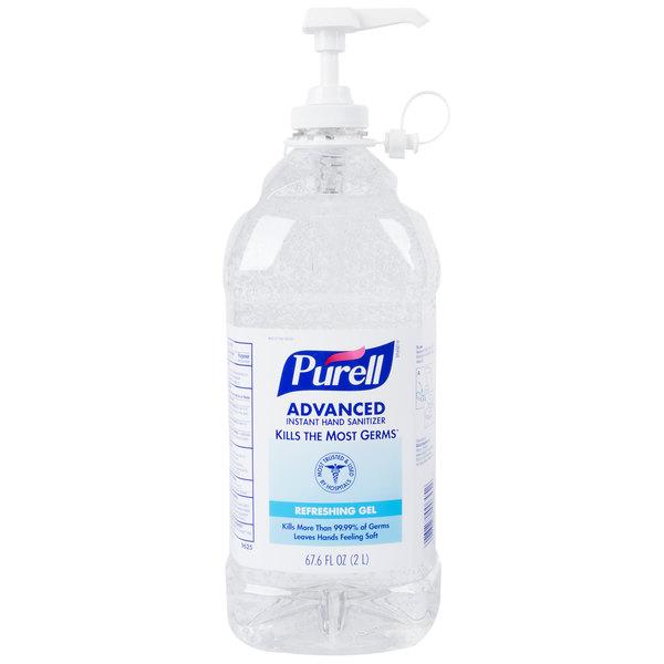 Purell® 9625-04 Advanced 2 Liter Instant Hand Sanitizer - 4/Case