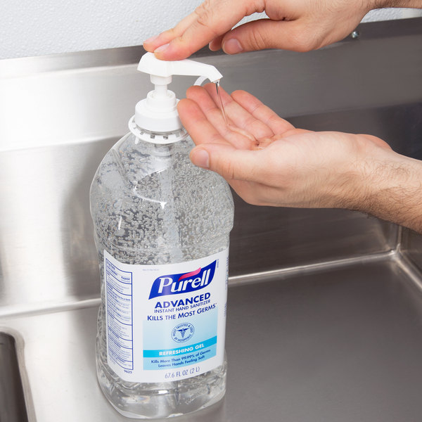 Purell® 9625-04 Advanced 2 Liter Instant Hand Sanitizer - 4/Case Main Image 2