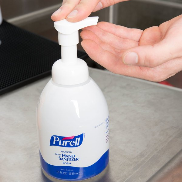 Purell® 5792-04 Advanced 535 mL Foaming Instant Hand Sanitizer with Pump - 4/Case Main Image 3