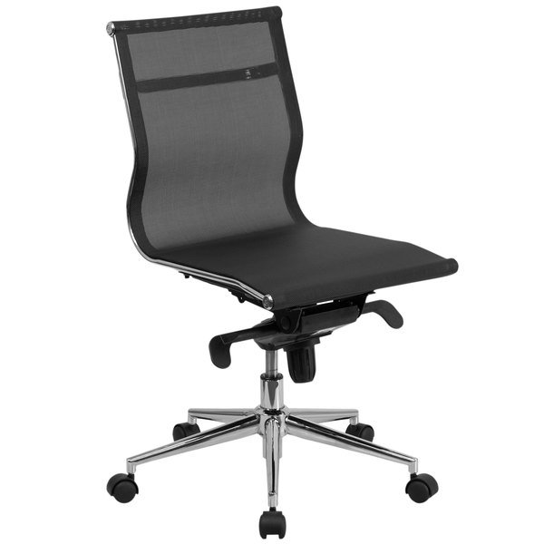 Flash Furniture BT-2768M-NA-GG Mid-Back Black Mesh Executive Office Chair with Tilt Adjustment