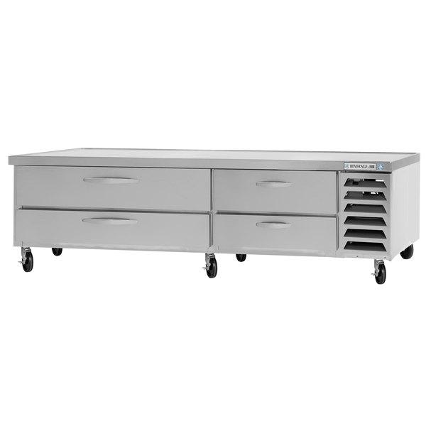 "Beverage-Air WTFCS84D-1-108 108"" Four Drawer Freezer Chef Base - 17.5 cu. ft. Main Image 1"