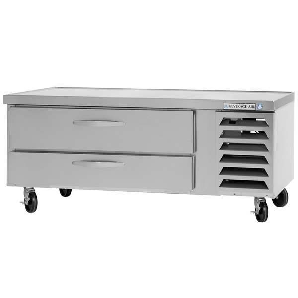 "Beverage-Air WTFCS36-1-48 48"" Two Drawer Freezer Chef Base - 8.5 cu. ft. Main Image 1"