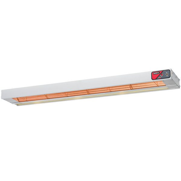 "Nemco 6150-36-SL 36"" Single Infrared Strip Warmer with On/Off Toggle Controls and Lights - 208V, 970W"