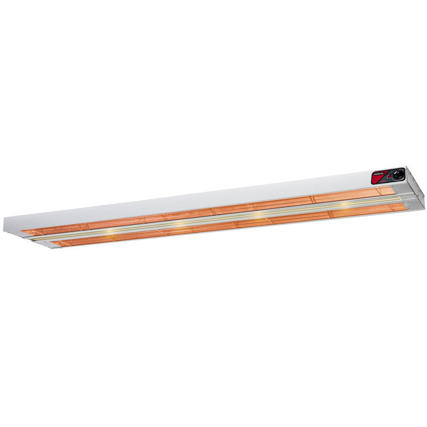 """Nemco 6151-36-D 36"""" Dual Infrared Strip Warmer with Infinite Controls - 240V, 1700W"""