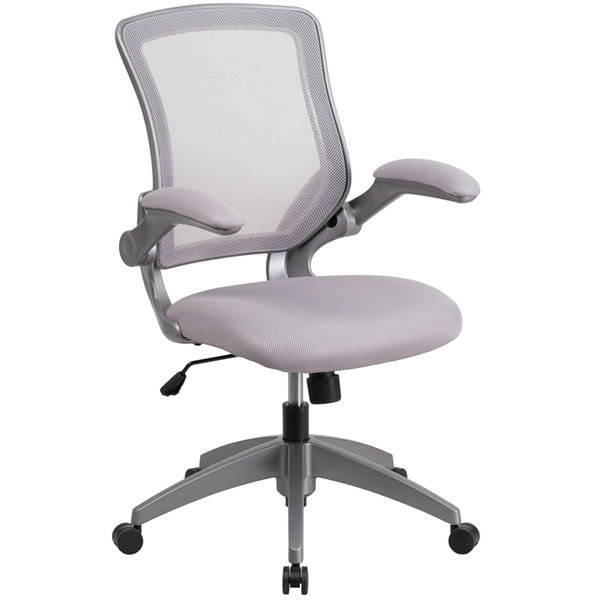 flash furniture bl zp 8805 gy gg mid back gray mesh office chair