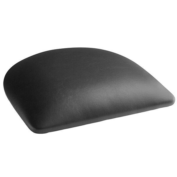 "Lancaster Table & Seating Metal Chair / Barstool 2 1/2"" Black Vinyl Padded Seat Main Image 1"