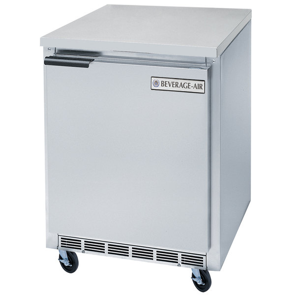 Beverage-Air WTF20HC 20'' Single Door Compact Shallow Depth Worktop Freezer - 2.7 cu. ft.