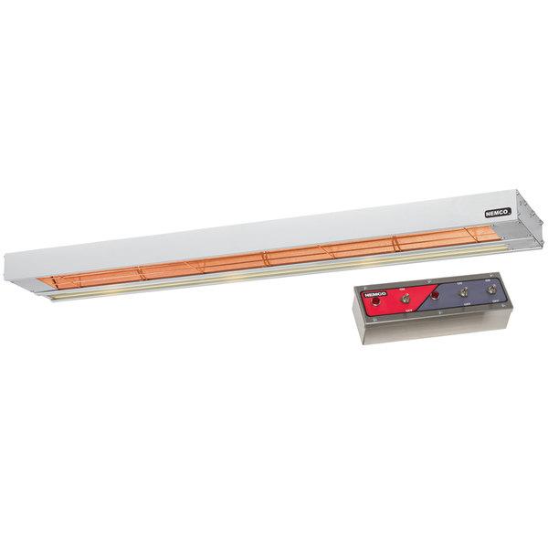 "Nemco 6155-72 72"" Double Infrared Strip Warmer with 69007 Remote Control Box - 240V, 1725W"