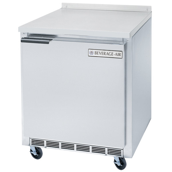 Beverage-Air WTF24 24' Single Door Shallow Depth Undercounter Worktop Freezer - 5.38 cu. ft.