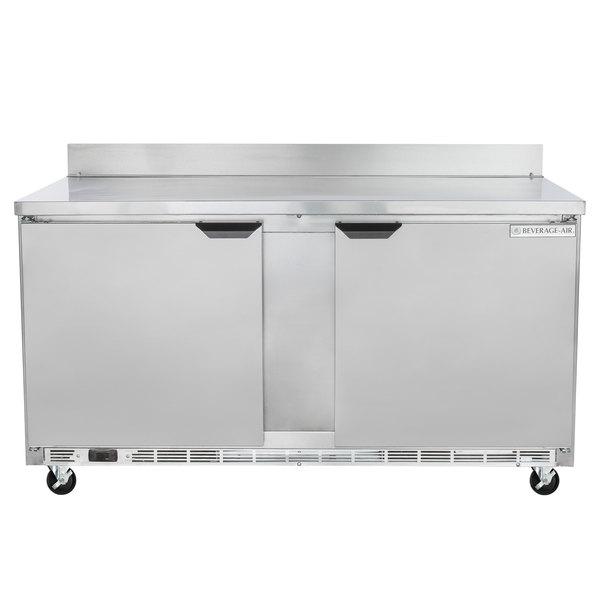 """Beverage-Air WTF60AHC 60"""" Two Door Worktop Freezer - 13.3 cu. ft."""