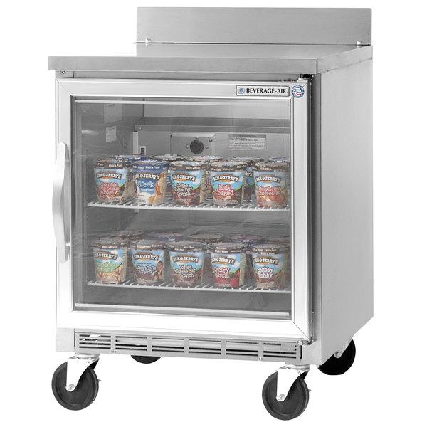 Beverage-Air WTF24AHC-25 24' Single Glass Door Worktop Freezer - 7 cu. ft.