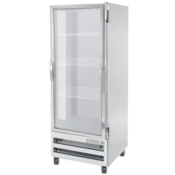 "Beverage-Air RI18HC-G 27"" One Section Glass Door Reach-In Refrigerator - 18 cu. ft."