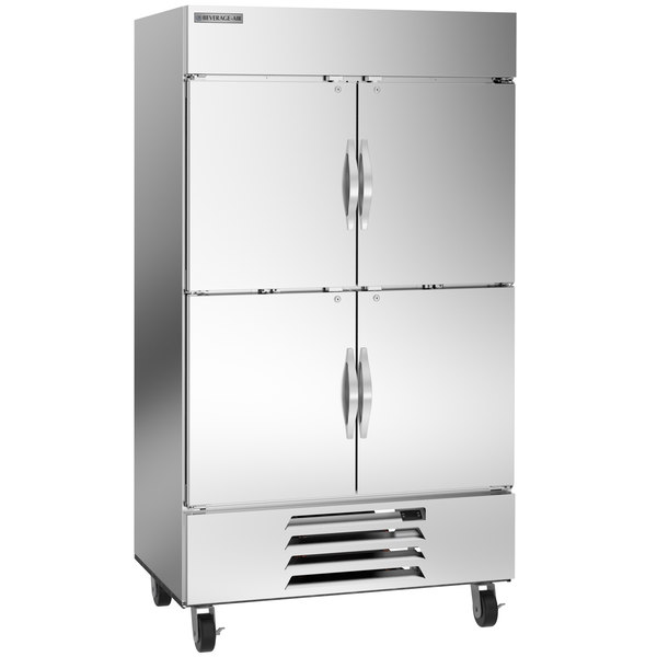 "Beverage-Air HBF44-1-HS 47"" Horizon Series Two Section Solid Half Door Reach-In Freezer with LED Lighting Main Image 1"
