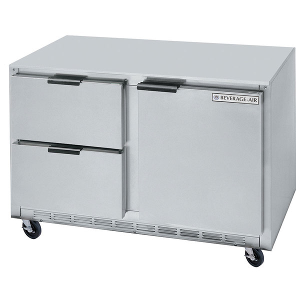 "Beverage-Air UCFD60AHC-2 60"" Undercounter Freezer with 2 Drawers and 1 Door - 17.1 Cu. Ft."