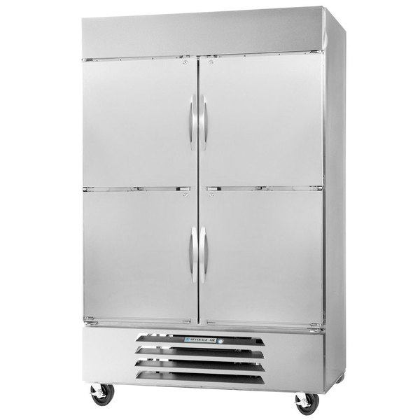 "Beverage-Air RB49HC-1HS 52"" Vista Series Two Section Solid Half Door Reach-In Refrigerator - 49 cu. ft."