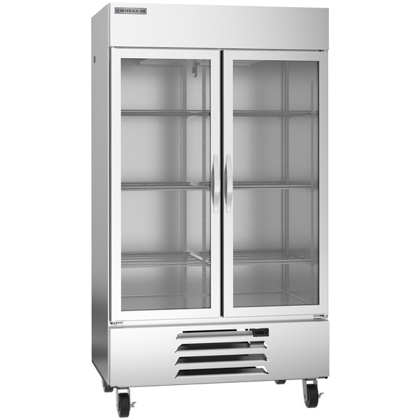 """Beverage-Air HBF44-1-G 47"""" Horizon Series Two Section Glass Door Reach-In Freezer with LED Lighting Main Image 1"""
