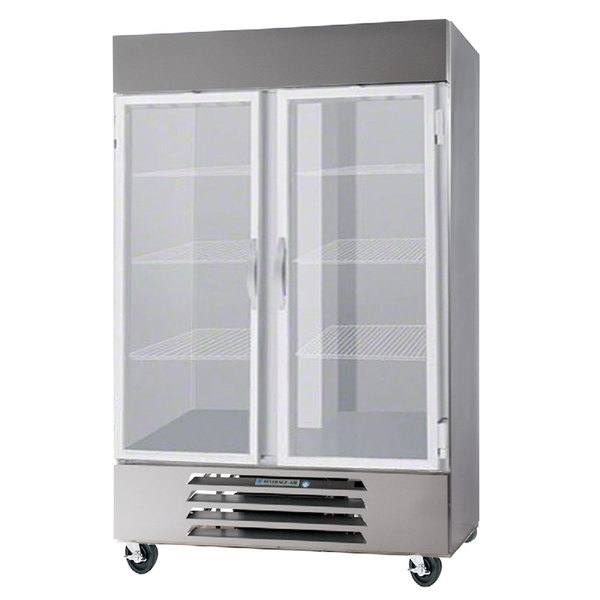 """Beverage-Air HBF44-1-G-LED 47"""" Horizon Series Two Section Glass Door Reach-In Freezer - 44 cu. ft."""
