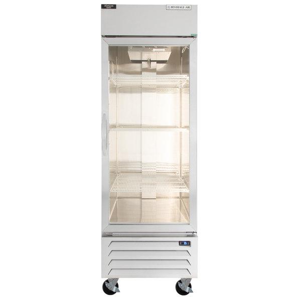 "Beverage-Air RB23HC-1G 27"" Vista Series One Section Glass Door Reach-In Refrigerator - 23 cu. ft."
