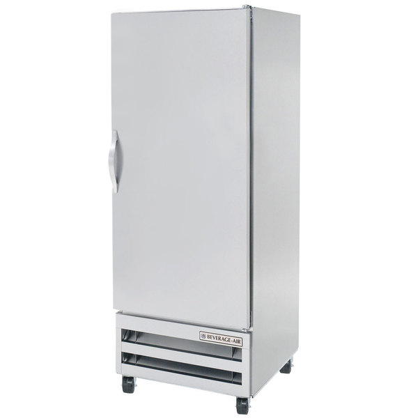 """Beverage-Air RI18-S 27"""" One Section Solid Door Reach-In Refrigerator - 18 cu. ft."""