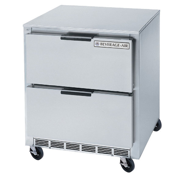 "Beverage-Air UCFD27AHC-2 27"" Undercounter Freezer with 2 Drawers Main Image 1"