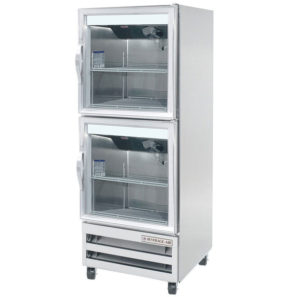 "Beverage-Air RI18HC-HG 27"" One Section Glass Half Door Reach-In Refrigerator - 18 cu. ft."