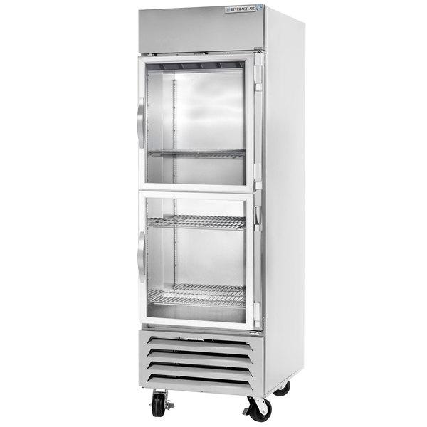"Beverage-Air RB23HC-1HG 27"" Vista Series One Section Glass Half Door Reach-In Refrigerator - 23 cu. ft."