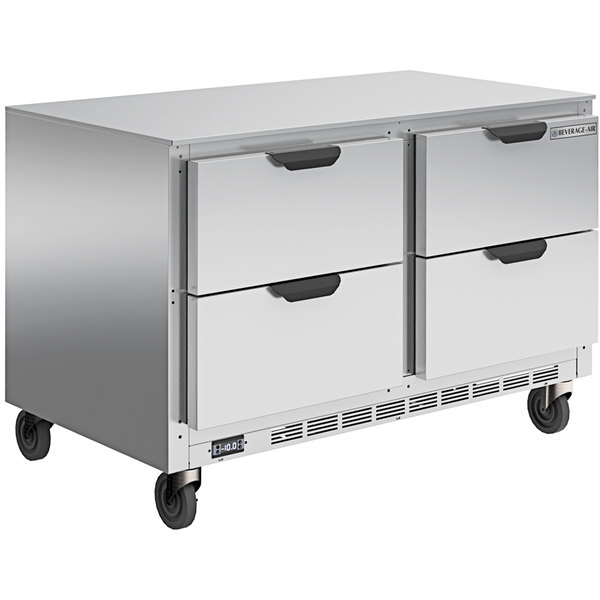 """Beverage-Air UCFD48AHC-4 48"""" Undercounter Freezer with 4 Drawers - 13.9 Cu. Ft. Main Image 1"""