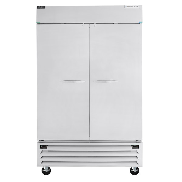 """Beverage-Air HBRF49-1-B 52"""" Horizon Series Two Section Dual Temperature Reach-In Refrigerator / Freezer with LED Lighting"""