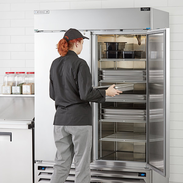 """Beverage-Air HBRF49-1-B 52"""" Horizon Series Two Section Dual Temperature Reach-In Refrigerator / Freezer with LED Lighting Main Image 5"""