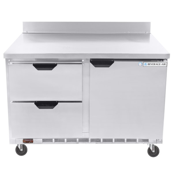 "Beverage-Air WTFD48AHC-2 48"" Two Drawer, One Door Worktop Freezer Main Image 1"